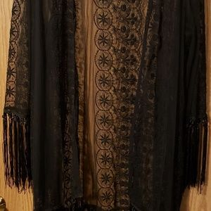 Black Lace Wrap with sleeves